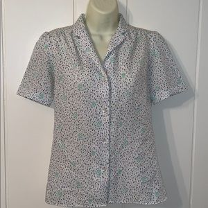 Vtg 70s/80s Levi Strauss & Co polyester blouse
